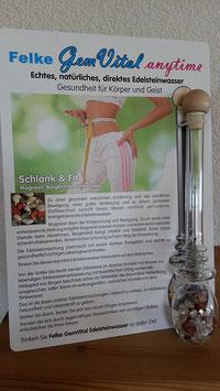 GemVital anytime Glas-Edelsteinstab mit Edelsteinen - Mischung: Schlank & Fit