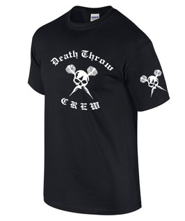 T-Shirt DEATH THROW CREW Darten Dart VORNE UND ÄRMEL LINKS BEDRUCKT