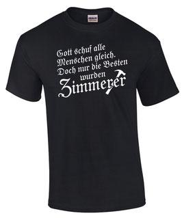 T-Shirt GOTT SCHUF ALLE GLEICH NUR DIE BESTEN WURDEN ZIMMERER Zimmermann