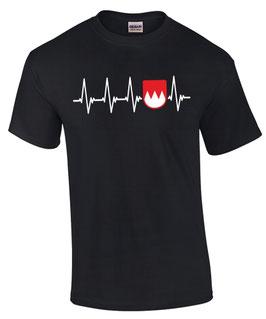 Herren T-Shirt HERZSCHLAG FRANKEN