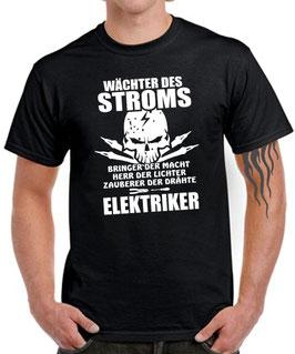 T-Shirt ELEKTRIKER WÄCHTER DES STROMS Fun Beruf Kleidung Spruch lustig Geschenk