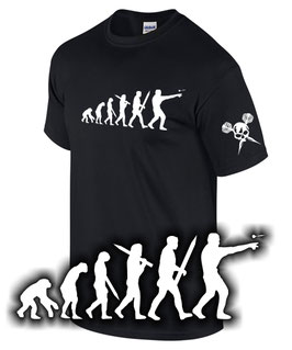 T-Shirt EVOLUTION DARTSPIELER Darts Darten Dartprofi Dart Darter