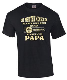 PAPA T-Shirt DIE WICHTIGSTEN NENNEN MICH Vater Kind Kinder Geschenk Papi FUN