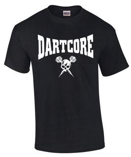 T-Shirt DARTCORE Darter Darts Darten Dartspieler VORNE BEDRUCKT
