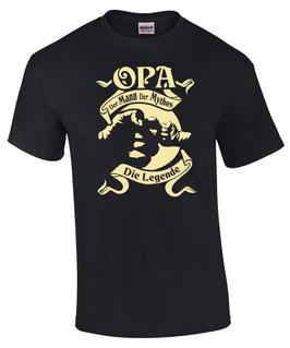 OPA T-Shirt MANN MYTHOS LEGENDE Opi Enkel Enkelin Spruch lustig Geschenk FUN