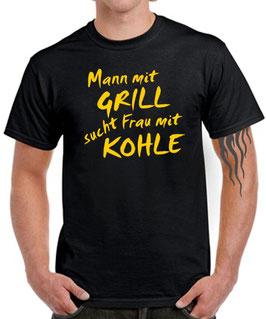 T-SHIRT Mann mit GRILL sucht Frau mit KOHLE