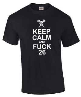 T-Shirt KEEP CALM AND FUCK 26 Dart Darten Darter Darts Dartshirt