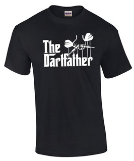 T-Shirt THE DARTFATHER Darten Darts Motiv Spruch lustig Dart wm