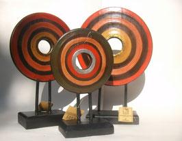 Design Holzskulpturen 3er Set