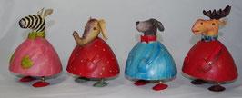 4er Set Tierfiguren von Pape Kunstgewerbe