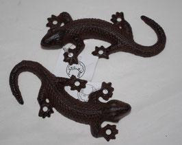 2er Set Salamander zur Wandbefestigung Gartenfigur