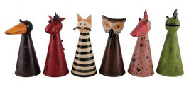 ZaunHocker Rabe,Drache,Katze,Eule,Vogel,Frosch