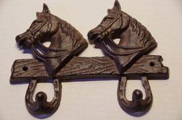 Gusseiserner Pferde Kopf Haken, Hufeisen