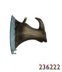 TROPHÄE NASHORN 31X28X21cm