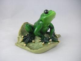 """Frosch """"sitzend auf Blatt"""""""