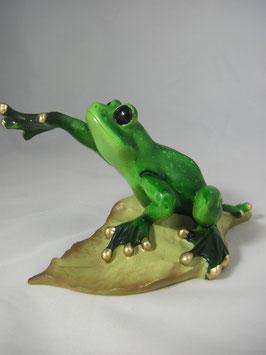 "Frosch ""gestreckt auf Blatt"""