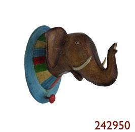 """Trophäe Elefant """"mit Kragen"""""""
