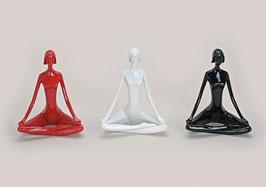 3 Yoga Frauen Dekofiguren
