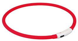 TRIXIE USB Flash Leuchtring aus Silikon/Kunststoff