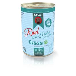Fellicita Rind & Huhn für Welpen mittlerer und großer Hunderassen 400g