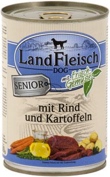 """Landfleisch Dog SENIOR """"Rind & Kartoffeln mit Frischgemüse"""" 400g"""