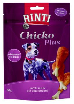 Rinti Extra Chicko Plus Hähnchenschenkel mit Calciumbone 80g