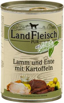 """LandFleisch Dog Pur """"Lamm & Ente & Kartoffeln"""" 400g"""