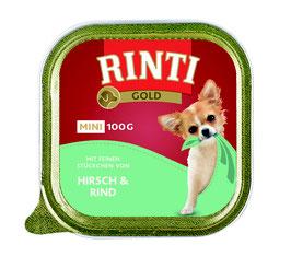 Rinti Schale Gold Mini Hirsch & Rind 100g