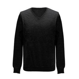 Pullover mit V-Ausschnitt, antracit