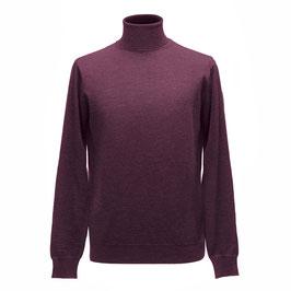 Hochwertiger Rollkragen-Pullover aus Merinowolle, bordeaux