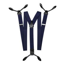 Elastische Hosenträger mit Lederverschluss
