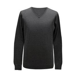 Pullover mit V-Ausschnitt, grau