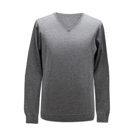 Pullover mit V-Ausschnitt, hellgrau