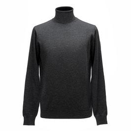 Hochwertiger Rollkragen-Pullover aus Merinowolle, grau