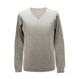 Pullover mit V-Ausschnitt, beige