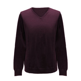 Pullover mit V-Ausschnitt, bordeaux