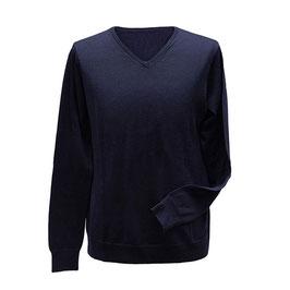 Pullover mit V-Ausschnitt, marine