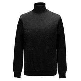 Hochwertiger Rollkragen-Pullover aus Merinowolle, antracit