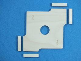 Bausatz Radien-  Kurvenschablone für die Oberfräse