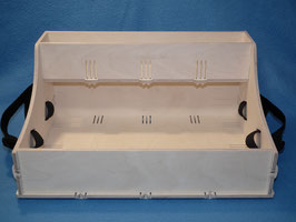 Holz Bauchladen mit Oberlade mit 42 cm x 30 cm