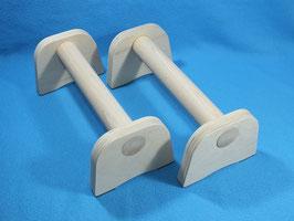 Liegestütz Griffe Hanteln Minibarren Parallets aus Holz