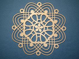Großes schönes und filigranes Mandala Nr. 2 aus Holz mit 28cm Durchmesser als Wandtattoo