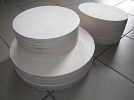 Runde Sitzfläche für Hocker aus Birke Multiplex 35cm Durchmesser 18 mm stark