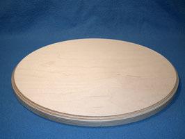 Runde Sitzfläche mit Fase für Hocker aus Birke Multiplex 35cm Durchmesser 18 mm stark