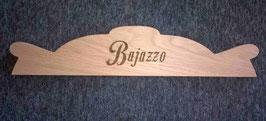 Aufsatz für den Bajazzo Spielautomaten aus Eichenholz