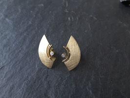 Brillantohrstecker Gold