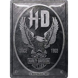 Metallschild HD, since 1903