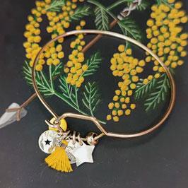 Bracelet Pampilles Argent rond ou hexagonal