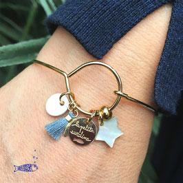 Bracelet Doré à Pampilles