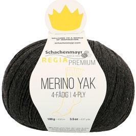 REGIA Premium 4-Fädig Merino Yak Anthrazit meliert 07512